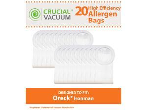 20 Oreck XL Ironman Bags; Fits Oreck XL Ironman Vacuums; Compare to Part # PKIM765