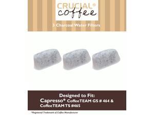 3 Capresso Charcoal Coffee Filters, Fits Capresso 4640.93, TEAM TS # 465