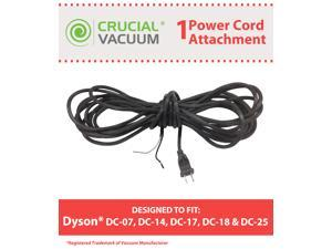 1 Dyson DC07, DC14, DC17, DC18 & DC25 Power Cord; Compare to Part # 905449-02; Designed & Engineered by Crucial Vacuum