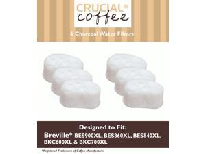 6 Breville Single Cup Coffee Brewer Charcoal Filters, Part # BWF100