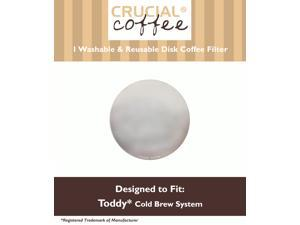 Washable & Reusable Stainless Steel Disk Filter Fits All Toddy Cold Brew Coffee System Makers, Including T2N Model