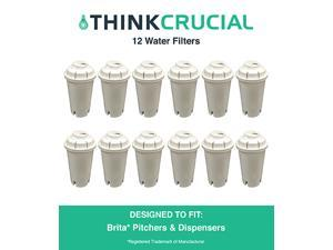 12 Brita Water Filter Replacements Fit Pitchers & Dispensers