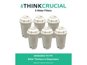 6 Brita Water Filter Replacements Fit Pitchers & Dispensers