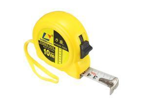 Tape Measure 10 Meter Retractable Measuring Tape Metric Plastic Round Case Yellow