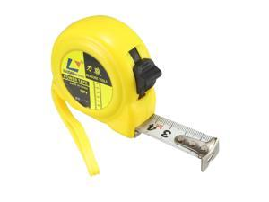 Tape Measure 3 Meter Retractable Measuring Tape Metric Plastic Round Case Yellow 3pcs