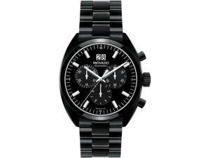 Movado 0606535 Watch Datron Mens Black Dial Swiss Quartz Chronograph