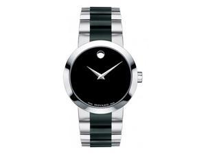 Movado Vertido Black PVD and Stainless Steel Mens Watch 0606373