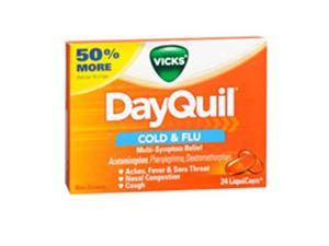 Vicks Vicks Dayquil Liquicaps, 24 each (Pack of 3)