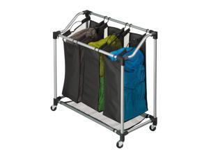 HONEY-CAN-DO SRT-01641 Laundry Sorter, 3-Compartment
