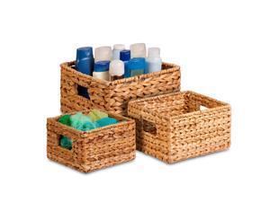 Honey-can-do 3Pk Natural Baskets Set