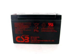 CSB GP-6120F2 Battery 6V/12Ah AGM Battery-F2 Terminal