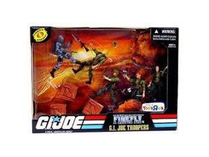 G.I. JOE Exclusive Action Figure Troop Builders Set Firefly Vs. GI Joe Troppers Greenshirts