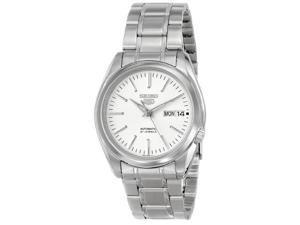 """Seiko Men's SNKL41 """"Seiko 5"""" White Dial Stainless Steel Automatic Watch"""