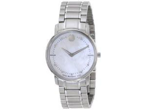 Movado TC Diamond Mother of Pearl Dial Stainless Steel Ladies Watch 0606691