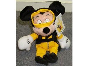 """Out of Production Rare Disney Scuba Diver Underwater Explorer Mickey Mouse 9"""" Plush Bean-bag Doll"""