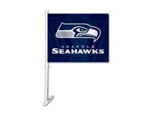 Fremont Die Inc Seattle Seahawks Car Flag With Wall Brackett Car Flag
