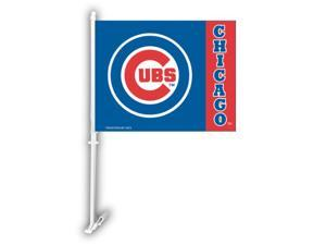 Fremont Die 68916 Car Flag W/Wall Brackett  - Chicago Cubs
