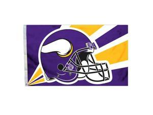 Fremont Die Inc Minnesota Vikings Flag With Grommetts Flags