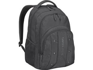 SWISSGEAR 64081001 WENGER UPLOAD BACKPACK BLACK, FITS MOST 16IN LAPTOPS