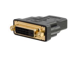 C2G 18402 C2G HDMI Female to DVI-D Female Adapter - 1 x HDMI Female Digital Audio/Video - 1 x DVI-D (Dual-Link) Female Digital Video - Black