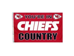 Fremont Die Inc Kansas City Chiefs Flag With Grommetts Flags