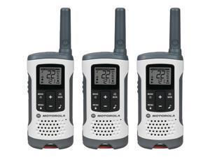 MOTOROLA T260TP Two Way Radio,White/Red,PK3