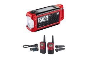 Midland T31VP Plus ER210 Bundle X-TALKER T31VP Walkie Talkie plus ER210 Emergency Compact Crank Weather AM/FM Radio