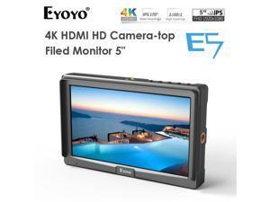 "Eyoyo E5 5"" inch Field DSLR Camera Monitor, Portable Mini IPS On-Camera Video Monitor with Magic Arm Support 4K HDMI Signal Input and Output fit for Sony, Canon, Panasonic and DJI,Zhiyun,Feiyu Gimbal"