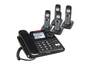 Clarity 53727.000 E814CC Moderate Hearing Loss Phone with 3 E814HS Handsets