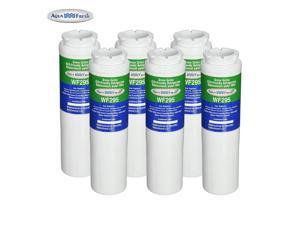 Replacement Aqua Fresh WF295 Refrigerator Water Filter Compatible with Maytag UKF8001 & Whirlpool WRX735SDBM (6 Pack)