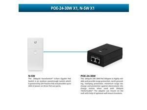 Ubiquiti NanoSwitch 4-Port Gigabit PoE Switch with 24V 30W PoE Adapter