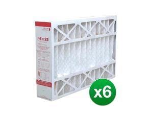Fits Honeywell Furnace CF100A1009 16x25x4 Air Filter MERV 11 (6 Pack)