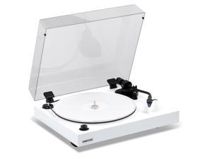 Fluance RT85 Reference High Fidelity Vinyl Turntable Record Player with Ortofon 2M Blue Cartridge, Acrylic Platter, Speed Control Motor, Solid Wood Plinth, Vibration Isolation Feet - Piano White