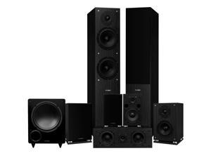 Fluance Elite High Definition Surround Sound Home Theater 7.1 Speaker System including Floorstanding Towers, Center Channel, Surround, Rear Surround Speakers, and DB10 Subwoofer - Black Ash (SX71BR)