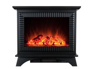 AKDY 23 Electric Fireplace Heat Tempered Glass Freestanding Logs Insert