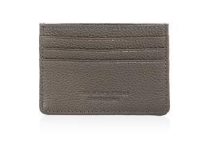Bloomingdale's Mens Leblon Leather Coin Card Case Wallet, Grey, One Size