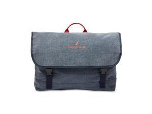 Nautica Mens Canvas Messenger Bag, blue,