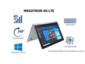 """iView Megatron 4G LTE - 14.1"""" 360° Touch Screen, 4GB/64GB Windows 10 Pro, 1920 x 1080 IPS High Resolution"""