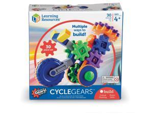 """Learning Resources Building Set Cycle Gears 9-1/10""""Wx8-9/10""""Lx2-4/5""""H Multi"""