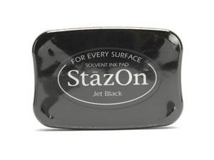 Tuskineko Stazon Jet Black Color Ink Pad For Stamps