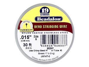 Beadalon Wire Standard Bright 19 Strand .015 Inch / 30Ft