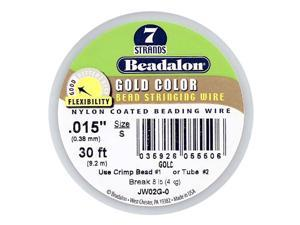 Beadalon Wire Gold Color 7 Strand .015 In./ 30Ft