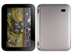Skinomi Carbon Fiber Silver Skin Cover+Screen Protector for Lenovo IdeaPad K1