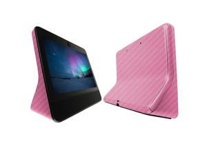 Facebook Portal Screen Protector + Pink Carbon Fiber Full Body (10.1), Skinomi TechSkin Pink Carbon Fiber Film for Facebook Portal with Anti-Bubble Clear Film Screen