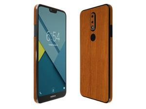 Nokia 7.1 Screen Protector + Light Wood Full Body , Skinomi TechSkin Light Wood Film for Nokia 7.1 with Anti-Bubble Clear Film Screen