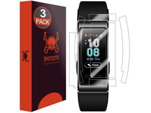 Huawei Band 3 Pro Screen Protector + Full Body , Skinomi TechSkin Full Coverage Skin + Screen Protector for Huawei Band 3 Pro Front & Back Clear HD Film