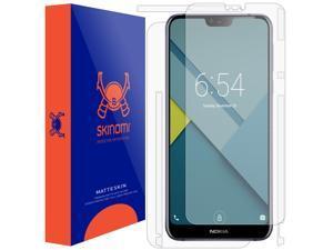 Nokia 7.1 Screen Protector + Full Body , Skinomi MatteSkin Full Skin Coverage + Screen Protector for Nokia 7.1 Anti-Glare and Bubble-Free Shield