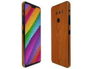 TechSkin with Anti-Bubble Clear Film Screen Protector Full Coverage Skinomi Dark Wood Full Body Skin Compatible with Orbic Wonder