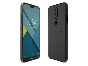 Nokia 7.1 Screen Protector + Brushed Steel Full Body , Skinomi TechSkin Brushed Steel Film for Nokia 7.1 with Anti-Bubble Clear Film Screen