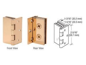 """CRL Brass 1/"""" Glass-to-Glass Out-Swing Set-Screw Hinge EH190"""